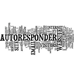 Autoresponder magic text background word cloud vector