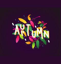 autumn nscription vector image