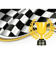 Background with a Trophy vector