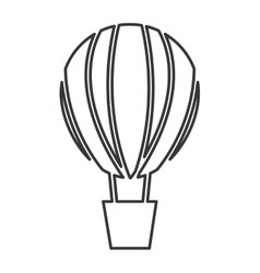 Balloon air hot vehicle isolated icon vector