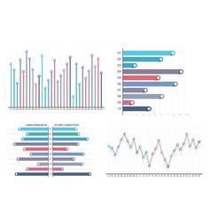 bar and line charts vector image