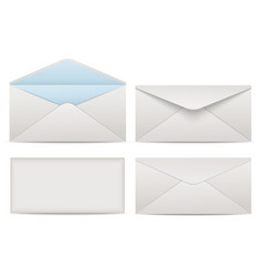 Blank paper envelopes for your design vector