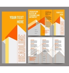 Brochure design template trifold vector