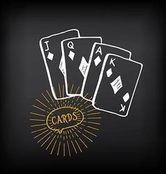 Cards sketch design vector image