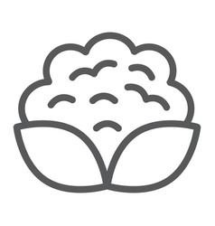 Cauliflower line icon vegetable and diet vector