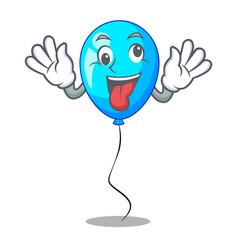Crazy blue balloon bunch design on cartoon vector
