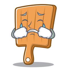 crying kitchen board character cartoon vector image