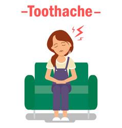 Dental problem toothache banner concept vector