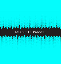 Digital black pulse music player background vector