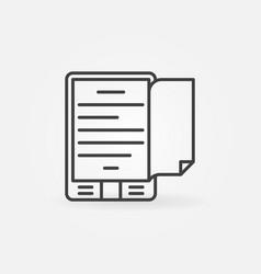 Ebook reader concept icon vector