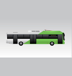 electric bus with two-color design vector image