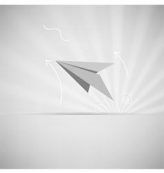 EPS10 paper aircraft vector image