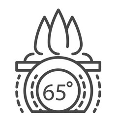 fire smart control icon outline style vector image