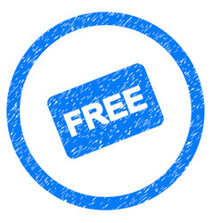free card rounded grainy icon vector image