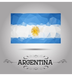 geometric polygonal Argentina flag vector image