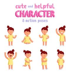 Girl mascot vector