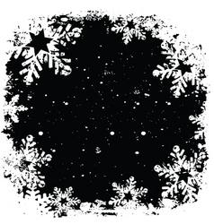 grunge snowflake background vector image
