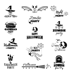 Happy Halloween Badges vector image