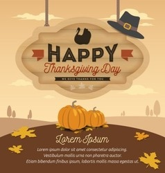 Happy thanksgiving card design vector