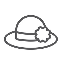 hat line icon clothing and fashion womans hat vector image
