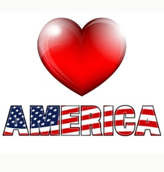 Heart america vector
