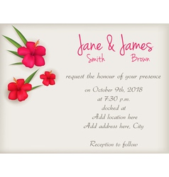 Hibiscus wedding background vector