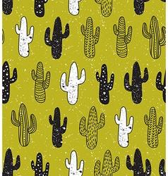 Hipster cactus seamless pattern Cacti tribal boho vector