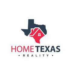 home logo design in texas vector image