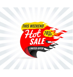 hot sale banner this weekend special offer vector image