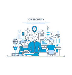 Job security data security comfortable work vector