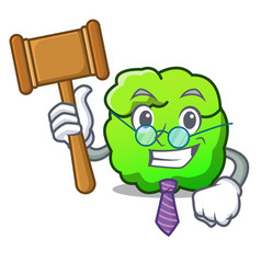 Judge shrub mascot cartoon style vector
