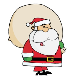 kris kringle carrying a toy sack vector image