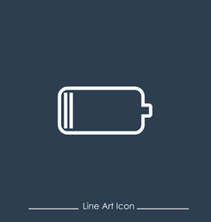 line art battery icon using for your presentation vector image