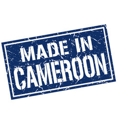made in cameroon stamp vector image