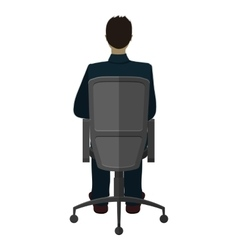 Man in chair vector image