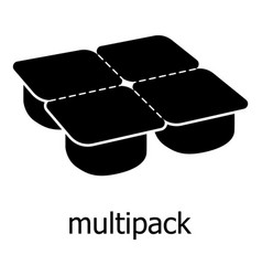 many packages icon simple black style vector image