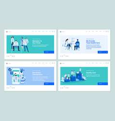 medicine and healthcare web page design templates vector image
