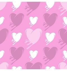 Melting hearts seamless pattern vector