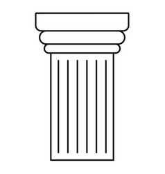 Museum pillar icon outline style vector