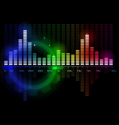 Music sound wave spectrum vector
