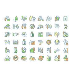 Neurodevelopmental disorder rgb color icons set vector