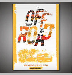 off-road event poster vector image