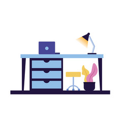 office workspace design vector image