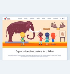 organization excursions for children museum vector image
