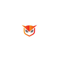 owl head sign logo vector image