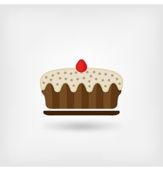pie baking icon vector image