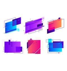 Rectangular geometric badges trendy frame vector
