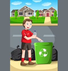 Recycling kid vector
