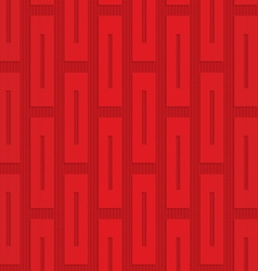 Red vertical rectangles on checkered background vector image