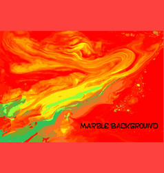 Red yellow and green marble pattern fluorescent vector